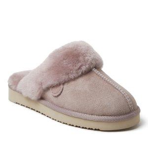 Dearfoams粉紫色拖鞋