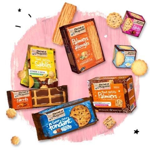 8折起 开胃油酥小饼干€1.7Michel et Augustin 超美味饼干 品质有保证 甜口咸口应有尽有