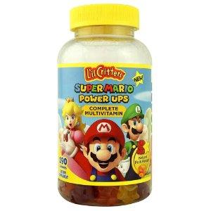 L'il CrittersSuper Mario™ Power Ups Complete Multivitamin Natural Fruit -- 190 Gummies