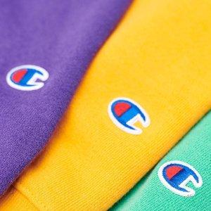 低至5折+额外8折+免邮Champion 强势年中促 超多reverse卫衣、T恤首降