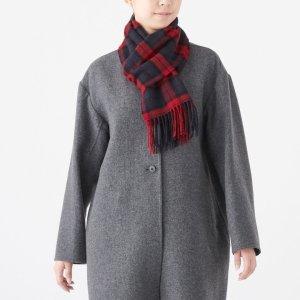 Muji格纹围巾