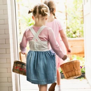 7.5折+额外8.5折+新用户8折Hanna Andersson 童装复活节促销 穿美衣egg hunting