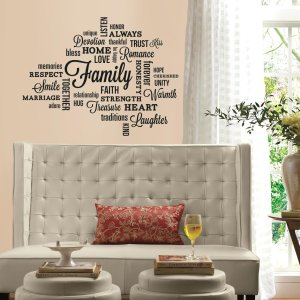 $4.9(Org.$13.99)RoomMates Family Quote Peel And Stick Wall Decals @ Amazon.com