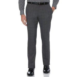 Perry EllisSlim Fit Non-Iron Plaid Suit Pant