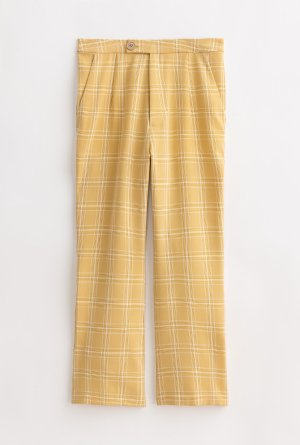Heather Pants - Yellow Plaid – Petite Studio