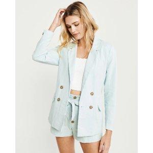 Womens Linen Blazer | Womens Select Styles On Sale | Abercrombie.com