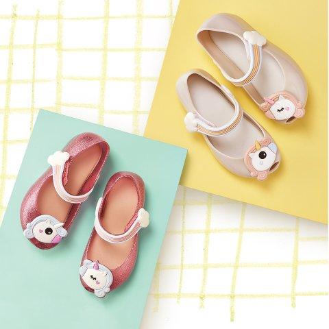 独角兽图案 女童鞋