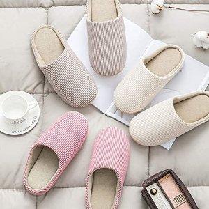 €9.99 多色可选SAGUARO 棉拖鞋 无印良品同款 防滑无噪音 可机洗