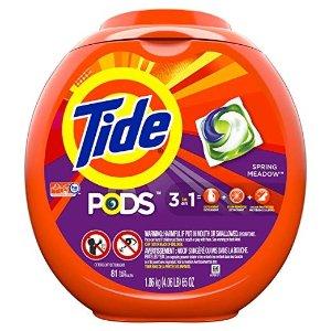 Tide买3件立减$10PODS 3合1洗衣球
