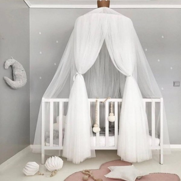 儿童房装饰纱幔