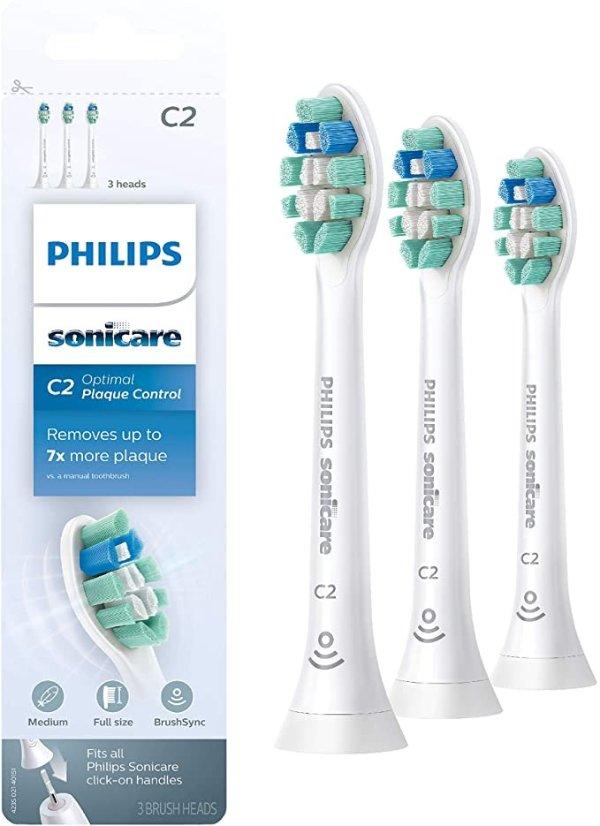 HX9023/65 Genuine C2 电动牙刷替换头 3支