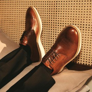 低至额外5折+免邮ECCO 劳工节大促 男士专场 皮鞋$59 大黄靴$86