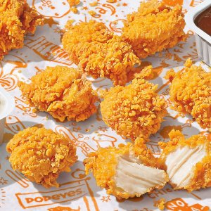 """五种数量 8块装套餐$5.99上新:Popeyes 推出""""Game Changing""""鸡块 9款蘸酱可选"""
