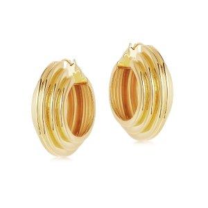 MissomaLucy Williams Large Chunky Ridge Hoop Earrings
