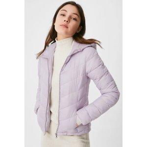 C&A香芋紫羽绒服