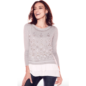 New York & CompanyEmbellished Twofer Top - New York & Company