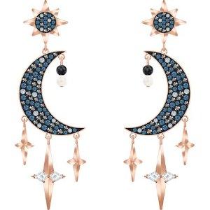 Swarovski星月耳环