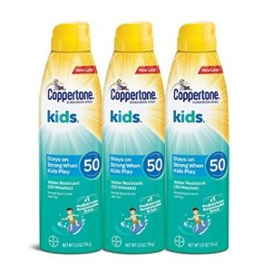 $15.1Coppertone KIDS Sunscreen Continuous Spray SPF 50 (5.5-Ounce, Pack of 3)