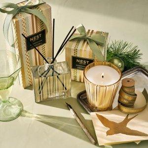 桦木松树冬季森林蜡烛