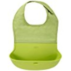 Amazon.com : OXO Tot Waterproof Silicone Roll Up Bib with Comfort-Fit Fabric Neck, Green : Baby Bibs : Baby