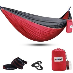 $10Mersuii Double Camping Hammock with Tree Straps