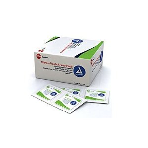 $3.28 Dynarex Alcohol Prep Pad, Sterile, Medium (Box of 200)