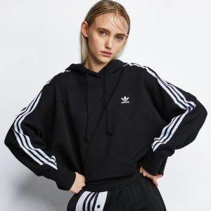 码全 100%全棉adidas 黑色三叶草卫衣