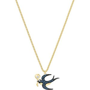 SwarovskiTarot Magic Necklace, Blue, Gold-tone plated by SWAROVSKI