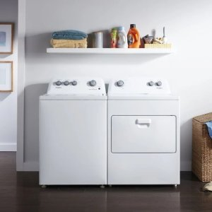 Whirlpool WPWADRGW48552 Side-by-Side Washer & Dryer Set with Top Load Washer and Gas Dryer in White