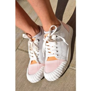 Good News Babe White Pink Low Trainers