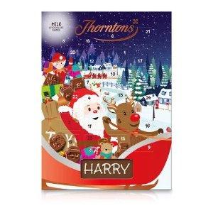 6件£15牛奶巧克力圣诞日历
