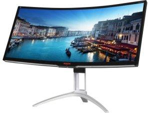 """$678.99AOC AGON AG352UCG 35"""" WQHD G-Sync 100Hz Curved Monitor"""