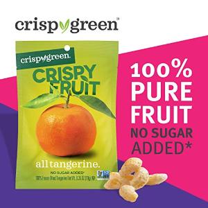 $12.08 健康零食Crispy Green 热带橘子果干,0.35OZ(12包装)