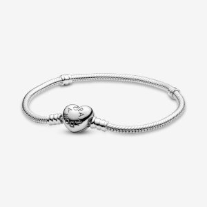 Pandora1条手链+2颗串珠=€99!Moments Heart 裸链