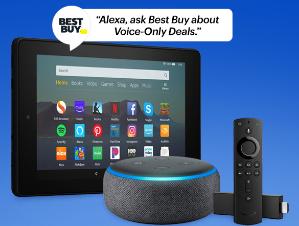 3代 Echo Dot $22 Fire TV 电视棒 $14.99Best Buy 指定Alexa 产品通过Alexa语音助手购物特价