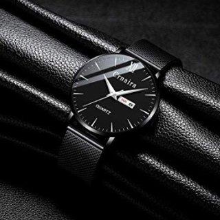 $19.99(原价$39.99)即将截止:FIZILI 男士超薄时尚手表,带日期窗,多色可选