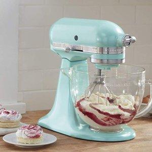 限今天:KitchenAid KSM155 5夸可抬头式搅拌机带玻璃碗