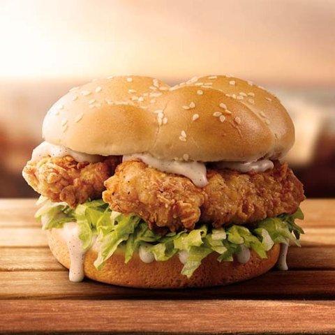 售价$4.95 随时截止手慢无KFC 经典Double Tender汉堡好价回归 双份炸鸡双份快乐