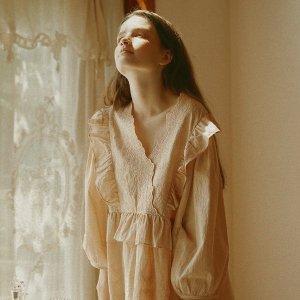 低至4折+额外9折Wconcept 仙女睡衣专场,封面款$55,收情侣款套装
