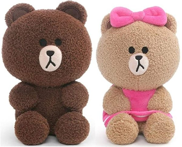 GUND Line Friends 布朗熊套装 7