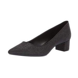 $14.59手慢无:Calvin Klein 女士方跟闪片鞋7码特价