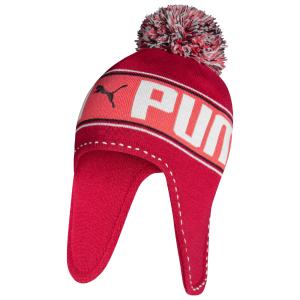 PUMA 彪马 粉色儿童毛线帽 3.9折特卖 贴心护耳超保暖
