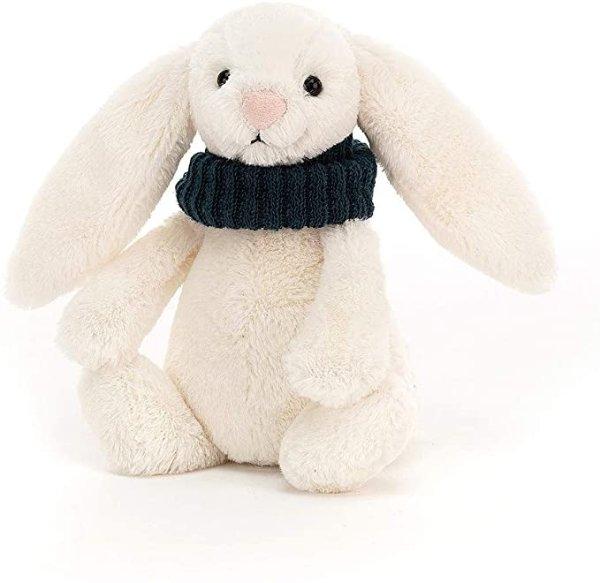 戴围巾的兔子-墨绿