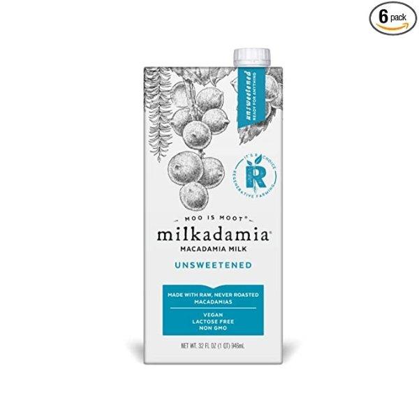 milkadamia 无糖澳洲坚果牛奶 32oz 6盒