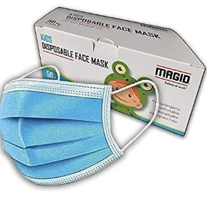 $16.99MAGID 3 Ply Disposable Kids Face Masks Pack of 50 Masks