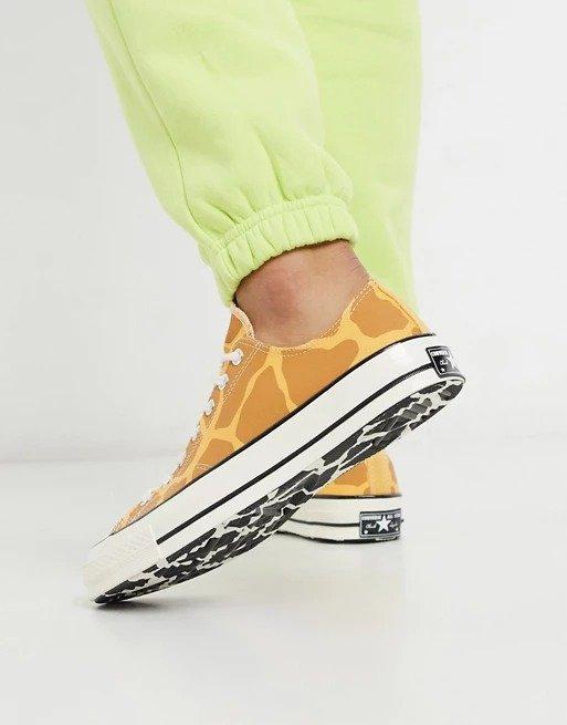 长劲鹿斑纹帆布鞋