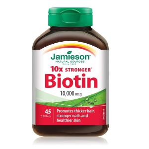 $11.39(原价$15.47)Jamieson 生物素45粒装 拯救脱发 保持皮肤健康状态