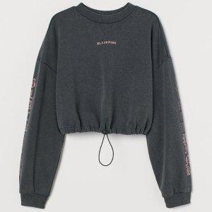 仅售€24.99 blink快举手!H&M×Blackpink 联名卫衣!黑灰色+粉色 白菜价get BP周边