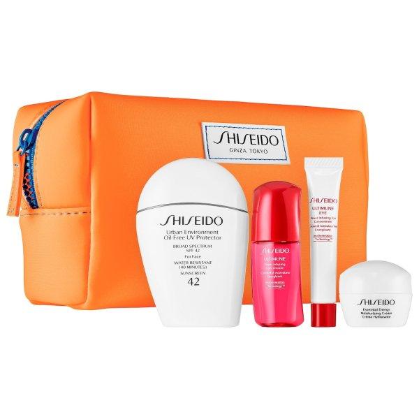 Shiseido 白胖子防晒套装热卖 相当于送3件豪华中样