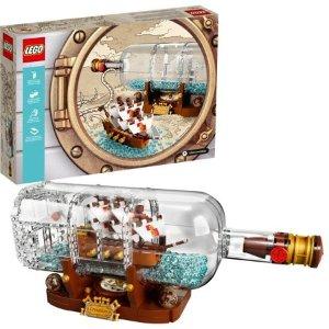 Lego补货!Ideas系列 瓶中船 21313